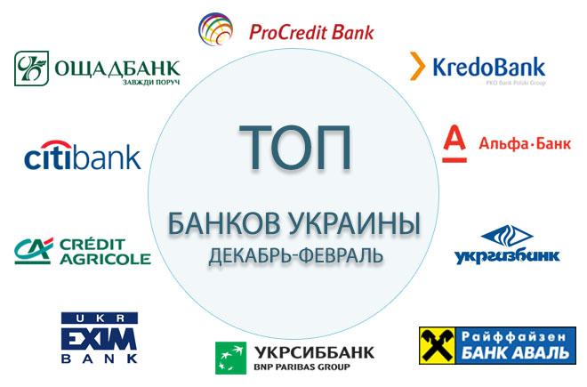 ТОП банков Украины декабрь-январь 2017-2018