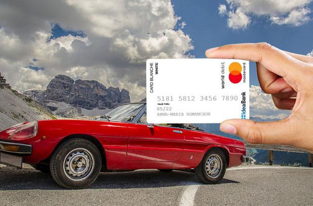 Наличные без комиссии с картой Card Blanche White от Идея Банка